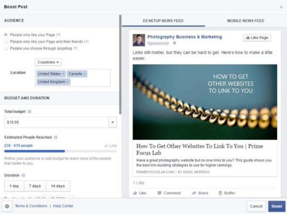 HVAC Facebook Ads - Boosted Posts